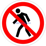 Знак: P-03 Проход запрещен (табличка на самоклеющейся пленке - наклейка)