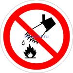 P-04 Запрещается тушить водой (табличка на пластике - знак безопасности)