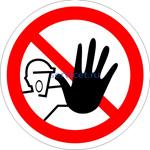 Знак: P-06 Доступ посторонним запрещен (табличка на самоклеющейся пленке - наклейка)