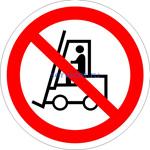 P-07 Запрещается движение средств напольного транспорта (табличка на пластике - знак безопасности)