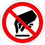 Знак: P-08 Запрещается прикасаться. Опасно (табличка на самоклеющейся пленке - наклейка)