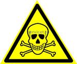 Знак: W-03 Опасно. Ядовитые вещества