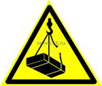 W 06 Опасно. Возможно падение груза -наклейка светиться в темноте - фотолюминисцентный знак