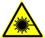 W-10 Опасно. Лазерное излучение - табличка на пластике - знак безопасности