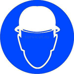M-02 Работать в защитной каске (шлеме) - табличка на пластике - знак безопасности