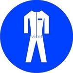 Знак: M-07 Работать в защитной одежде - табличка на самоклеющейся пленке - наклейка
