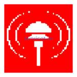 L 09 Пункт извещения о пожаре - табличка на пластике - знак безопасности