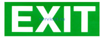Знак: L 14  EXIT Указатель выхода - табличка на самоклеющейся пленке - наклейка