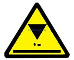 Знак: L 50 Осторожно. Низкий потолок - табличка на самоклеющейся пленке - наклейка
