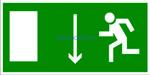 E 10 Указатель двери эвакуационного выхода (левосторонний) - наклейка светиться в темноте - фотолюминисцентный знак