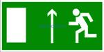 E-12 Направление к эвакуационному выходу прямо - табличка на пластике - знак безопасности