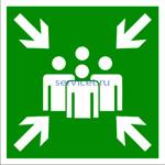 E-21 Пункт (место) сбора - табличка на пластике - знак безопасности