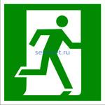 Знак: E 01-02 Выход здесь (правосторонний) - табличка на самоклеющейся пленке - наклейка