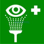 EC-04 Пункт обработки глаз - табличка на пластике - знак безопасности