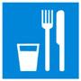 D 01 Пункт (место) приема пищи - наклейка светиться в темноте - фотолюминисцентный знак