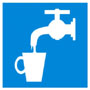 Знак: D-02 Питьевая вода - табличка на самоклеющейся пленке - наклейка