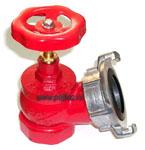 Кран пожарный (вентиль) 51 мм. чугун, угловой, 125˚, муфтовый