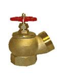 Кран пожарный (вентиль) 65 мм. латунь, угловой, 125 гр.