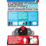 "PL-104 Плакат ""Обучение по охране труда и проверка знаний требований охраны труда"" А2"