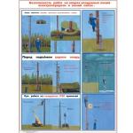 """PL-305 Плакат """"Безопасность работ на опорах воздушных линий электропередачи и линий связи"""""""