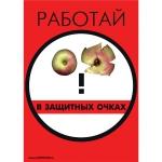 """PL-404 Плакат """"Работай в защитных очках"""""""