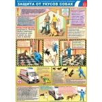 """PL-408 Плакат """"Защита от укусов собак"""" А2"""