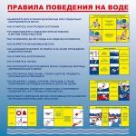 ST-35  Стенд «Правила поведения на воде» (1000 x 1200)
